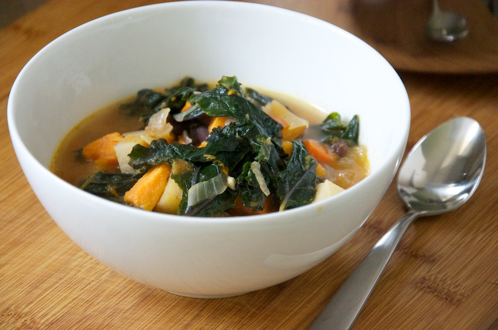 Vegan Kale and Roasted Vegetable Soup | Dula Notes