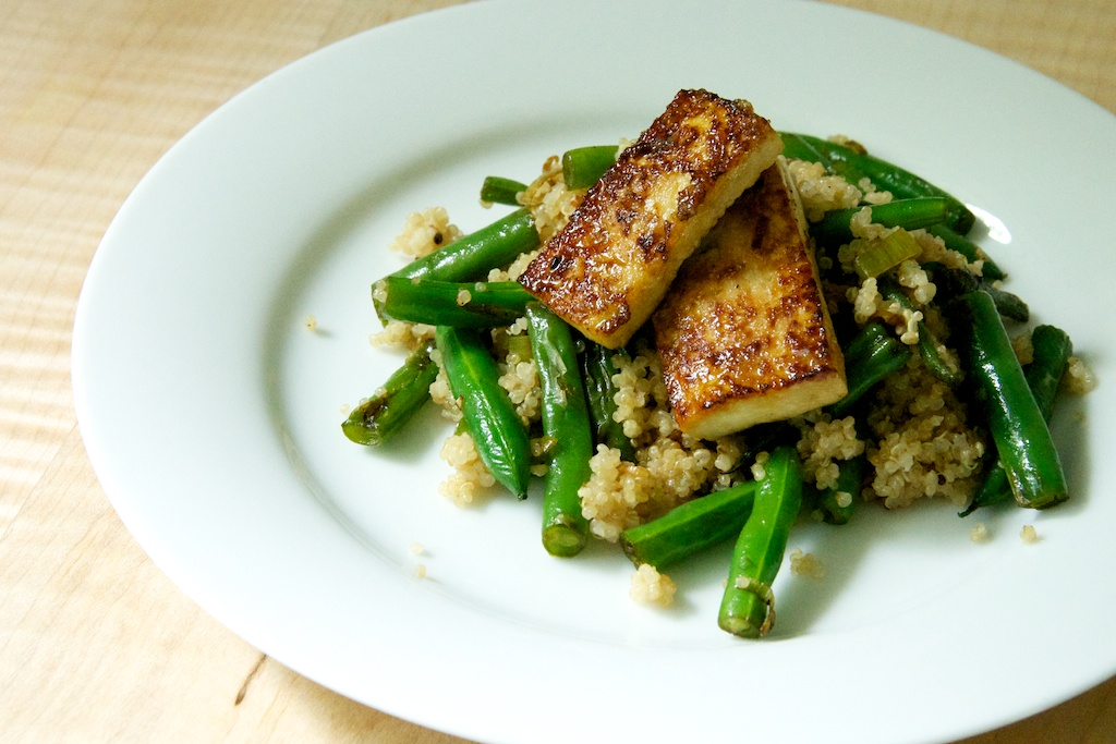 Green Garlic Green Beans with Coconut Quinoa and Caramelized Tofu ...