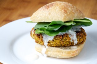 Vegan Curry Veggie Burgers Recipe // Dula Notes