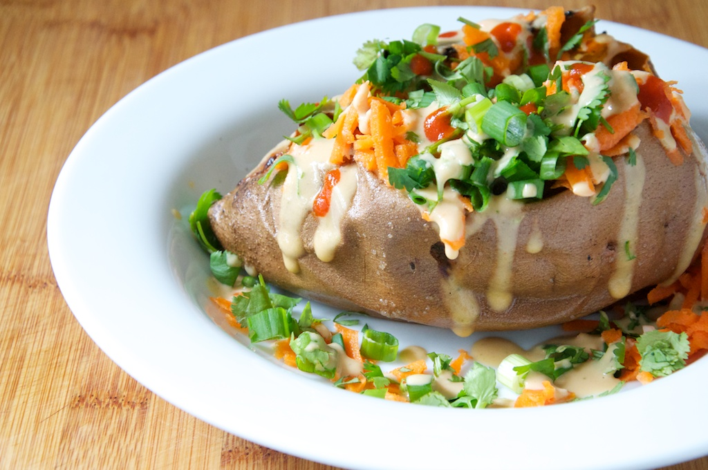Thai-Style Loaded Baked Sweet Potatoes | Dula Notes