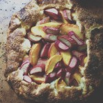 Peach Rhubarb Galette Recipe // Dula Notes