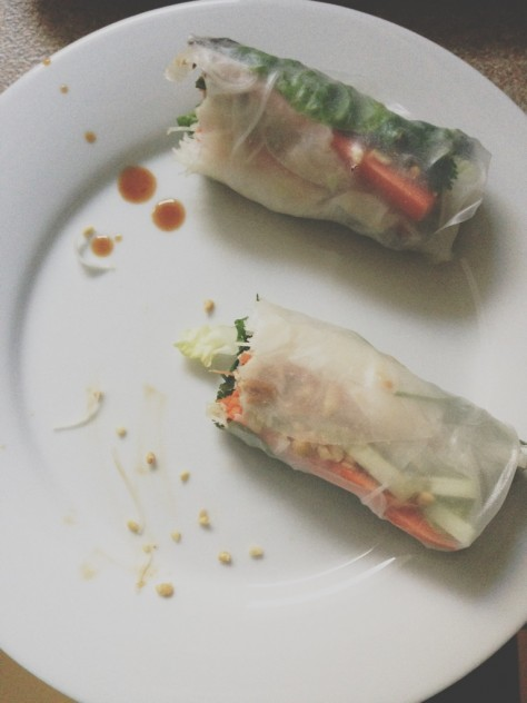 Vietnamese Spring Rolls with Garlic Soy Dipping Sauce // Dula Notes
