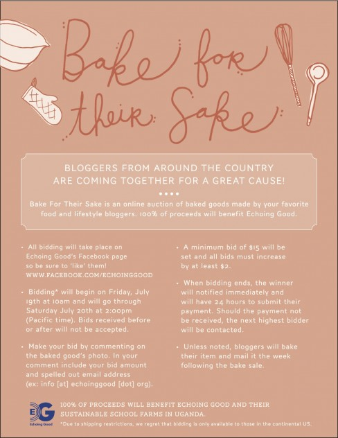 Bake for Their Sake // Bid on baked goods from your favorite food bloggers!