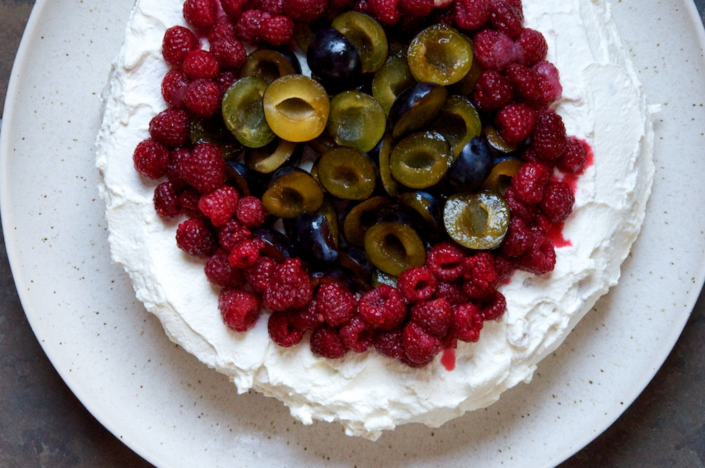 Norwegian Birthday Cake With Damson Plums And Raspberries Dula Notes