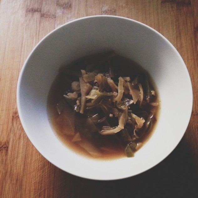 Vegan Hot and Sour Soup with Cabbage and Rice Recipe // Dula Notes