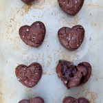 Heart-Shaped Salted Molten Chocolate Cakes