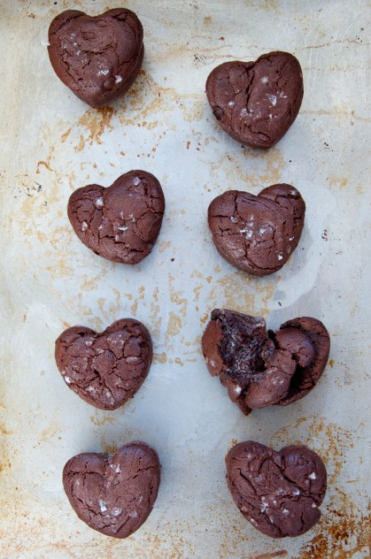 Heart-Shaped Salted Molten Chocolate Cakes Recipe // Dula Notes