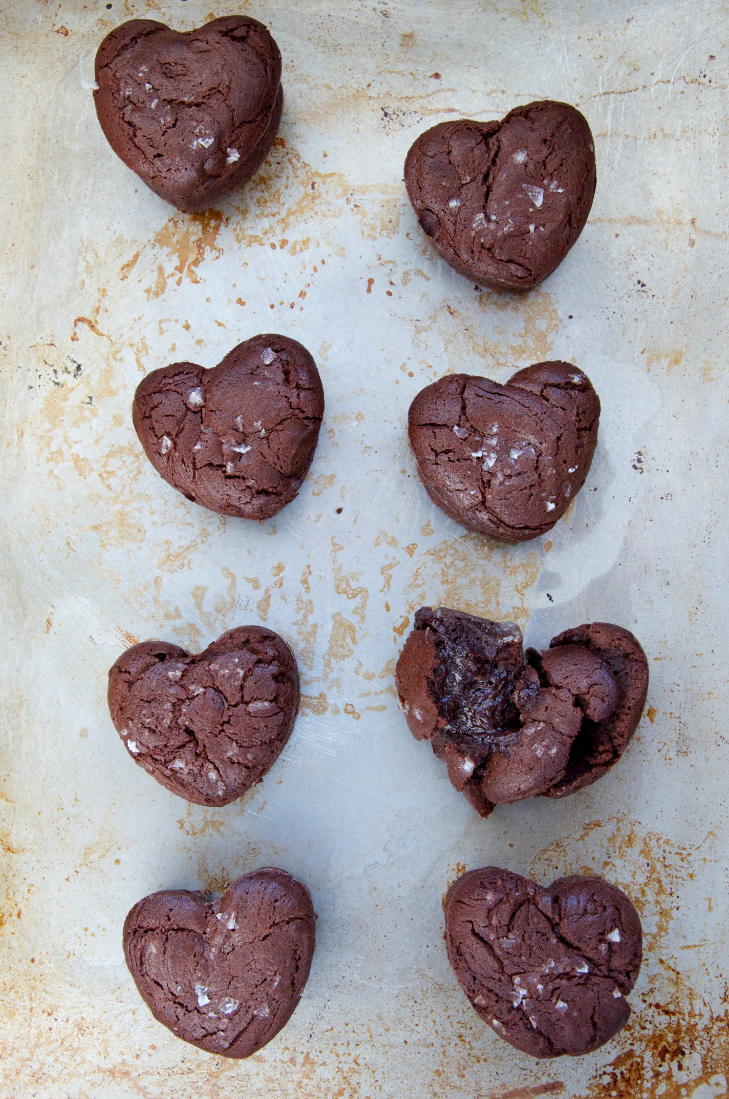 Image result for heart shape salted molten cake