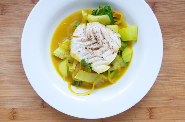 Cod with Spicy Tumeric Coconut Sauce Recipe from Dula Notes