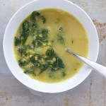 Vegan Coconut Curry Lentil Soup with Kale // Dula Notes