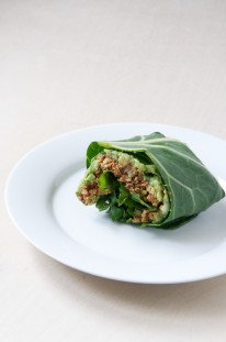 Vegan Taco Collard Wrap Recipe // Dula Notes