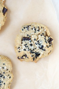 Gluten-Free Tahini Chocolate Chip Cookies Recipe // Dula Notes