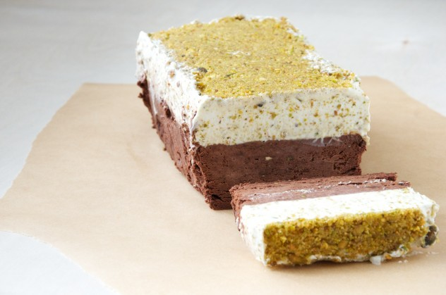 Chocolate and Lemon-Pistachio Semifreddo // Dula Notes
