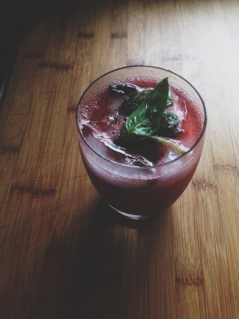 Seasonal Snapshots - Strawberry Basil Gin and Tonic // Dula Notes