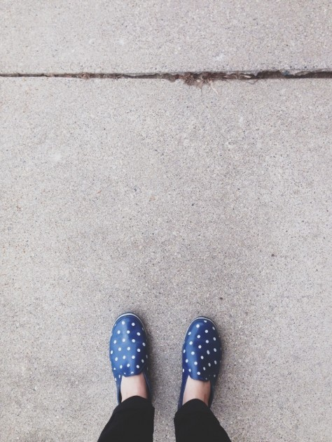 Seasonal Snapshots - polka dot loafers  // Dula Notes