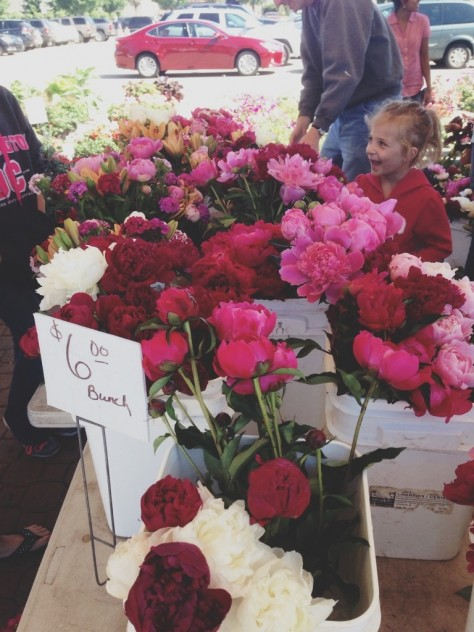 Peonies at the Holland Farmers Market // Dula Notes