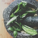 Basil Pesto in a Molcajete Recipe // Dula Notes