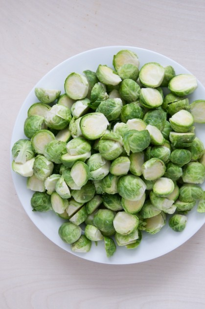 Cream-Braised Brussels Sprouts Recipe // www.dulanotes.com @nicoledula