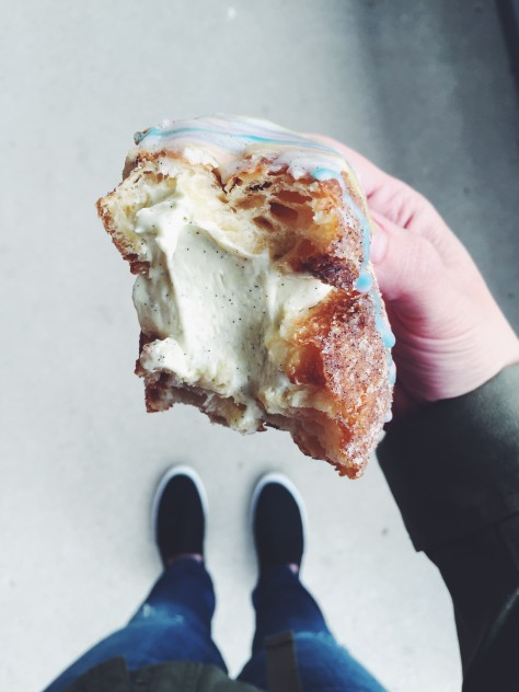 Easter cronut with vanilla bean filling // @nicoledula