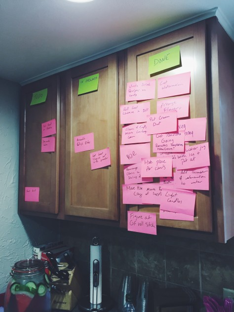 Scrum board for the party // @nicoledula