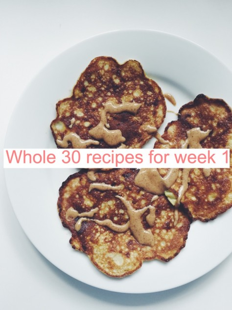 One week of Whole 30 Recipes // @nicoledula #whole30
