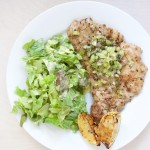 Unbreaded Pork Scaloppine with Fennel Salsa Verde Recipe // @nicoledula #whole30 #glutenfree