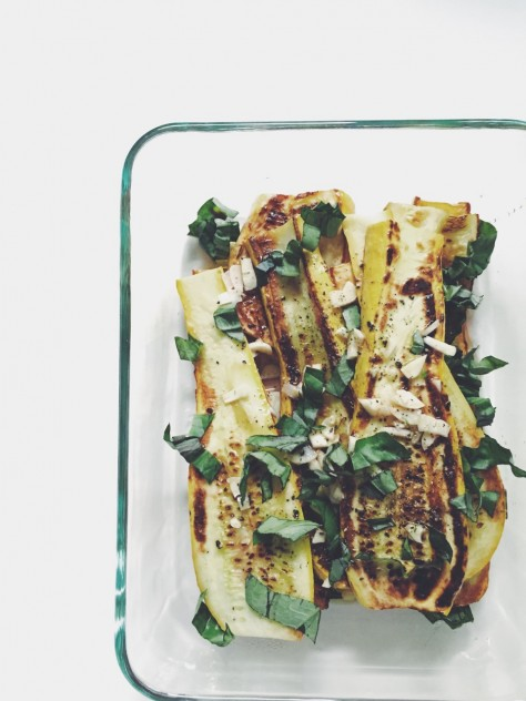 Marinated Summer Squash Recipe // @nicoledula