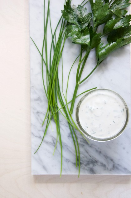 Homemade Ranch Dressing Recipe // @nicoledula