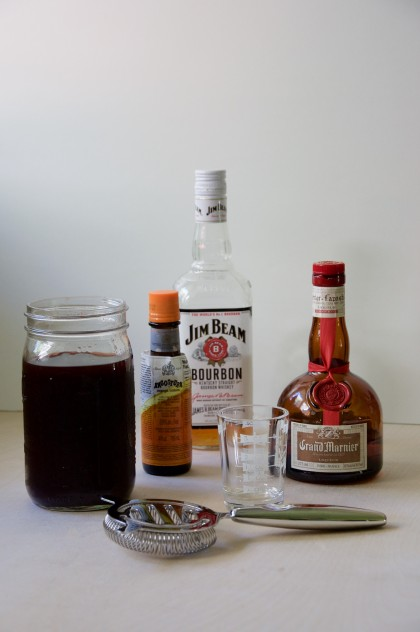 Bourbon Grape Shrub Cocktail Recipe // @nicoledula