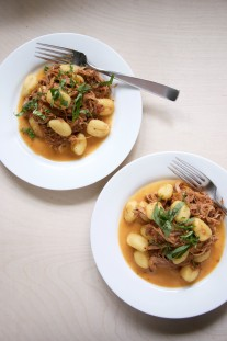 Slow Cooker Pork Ragù with Gnocchi Recipe // @nicoledula