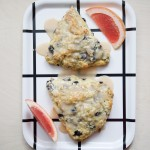 Grapefruit Blueberry Scones Recipe // @nicoledula