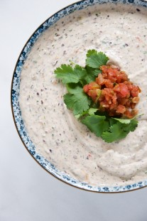 Quick Creamy Black Bean Dip Recipe // @nicoledula