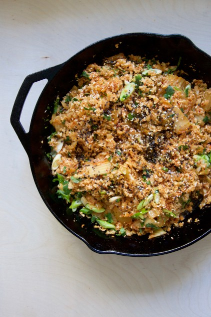 Bacon + Kimchi Cauliflower Fried Rice Recipe // @nicoledula