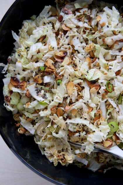 Napa Cabbage Slaw Recipe // @nicoledula